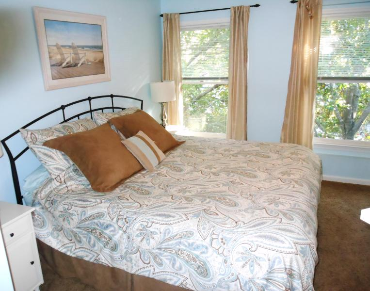 Master bedroom with pillow-top king size bed