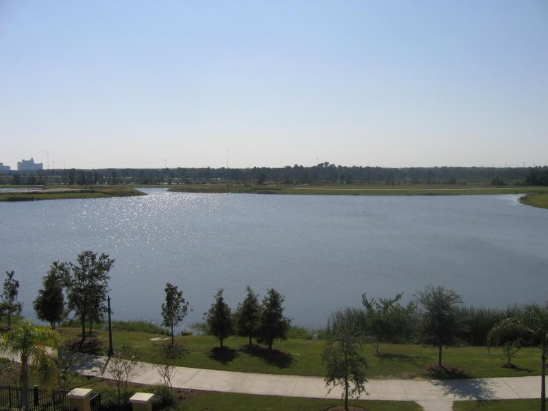 Clubhouse View of Lake Cay-Sea World on Other Side