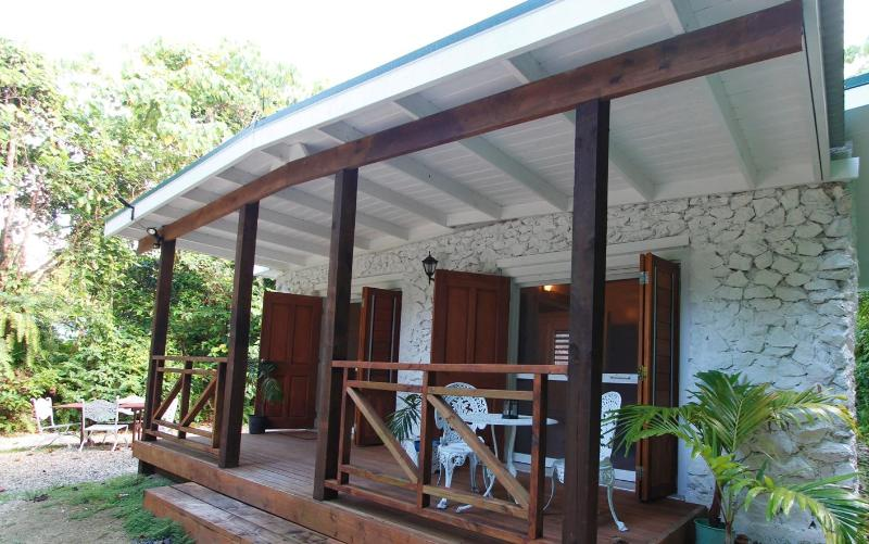 Stone Villas located within the lush green forest of Niue