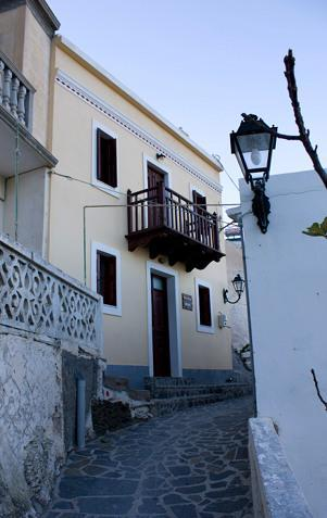 Irene's house exterior, in the main street of Olympos, a few meters from the entrance of the village