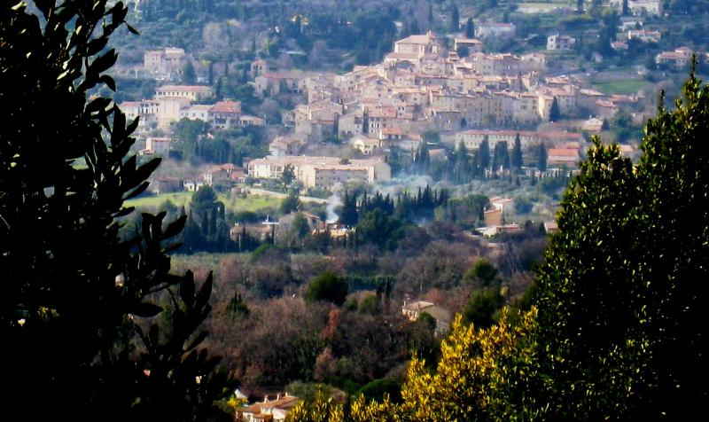 Seillans from across the hills.