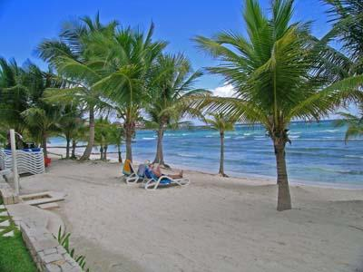 White Sand Beach in Front of Condo
