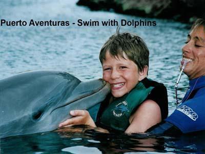 Puerto Aventuras zwemmen met dolfijnen