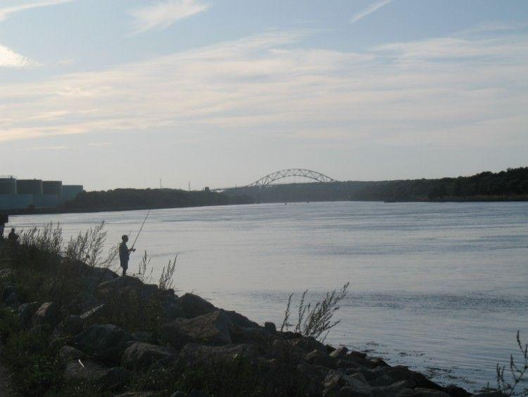 Fishing at the Cape Cod Canal