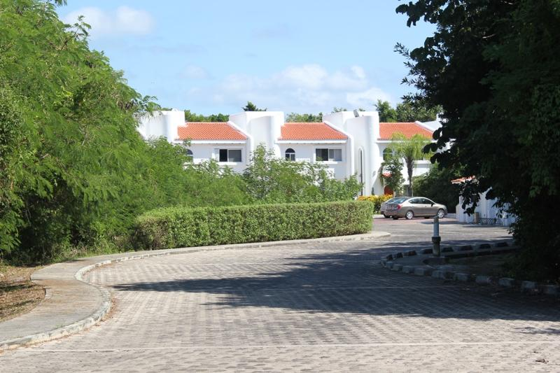 Casa Selva Caribe is located at the end of this quiet street