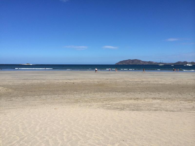 Tamarindo Beach outside the beach club