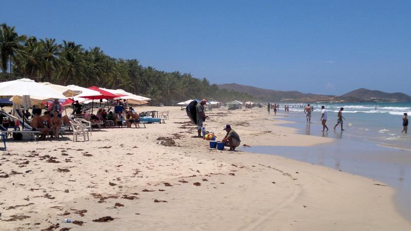 Playa El Agua beach, Margarita Island, Venezuela
