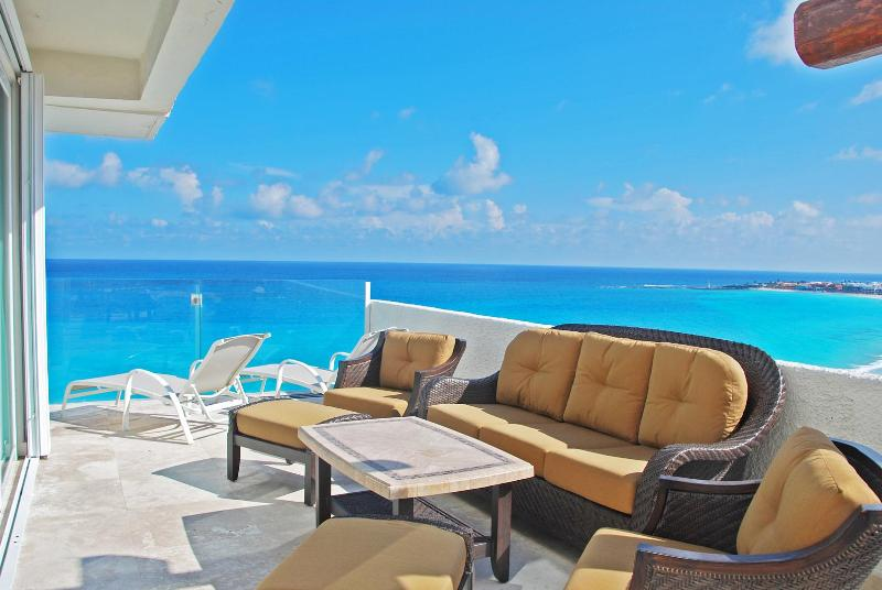 The Spacious Oceanfront Terrace.  Imagine hanging out here with your friends and family.