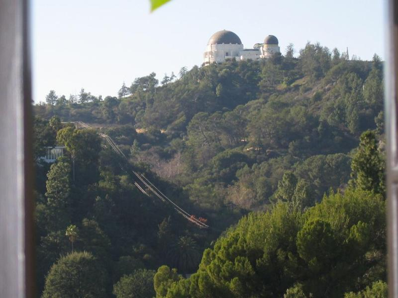 View of Griffith Park Observatory from the front yard.