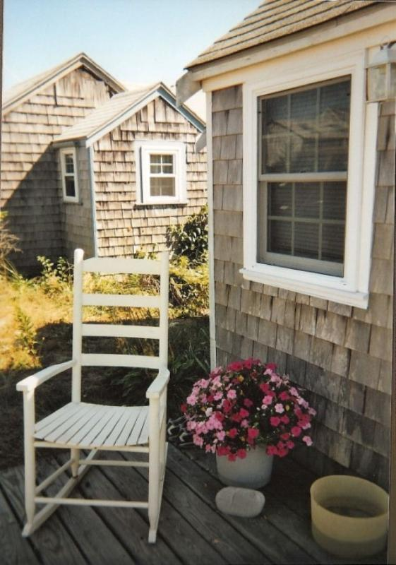 Front porch for relaxing in the sunshine