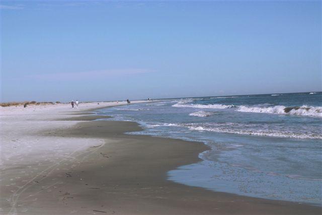 Beach adjacent to complex