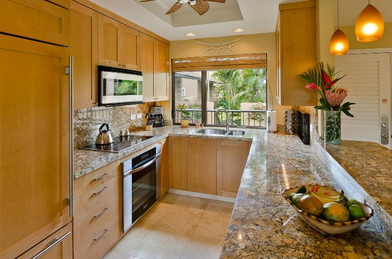 Cooking in this gourmet, well-equipped kitchen is a delight.  Top-line stainless steel appliances.
