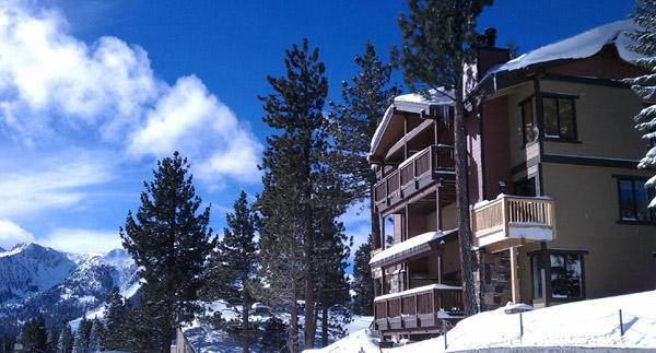 South Facing toward the mountain views & Located in the Village at Mammoth, center off all resources