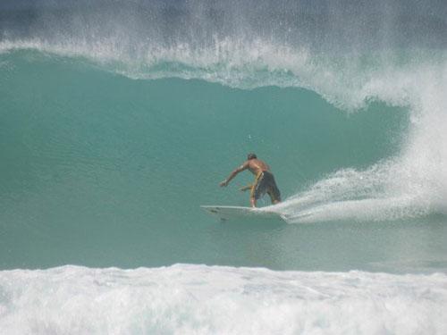 Surfing in Sandy Lane