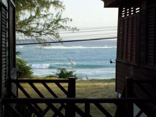 Windsurfing just in front of the Cottage