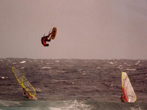 Kitesurfing in Silver Sands