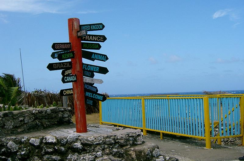 Find your way from North Point - helpful direction sign-post