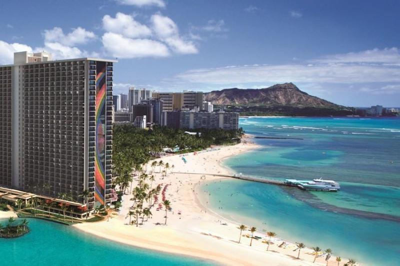 View of Waikiki at Hilton Hawaiian Village next door