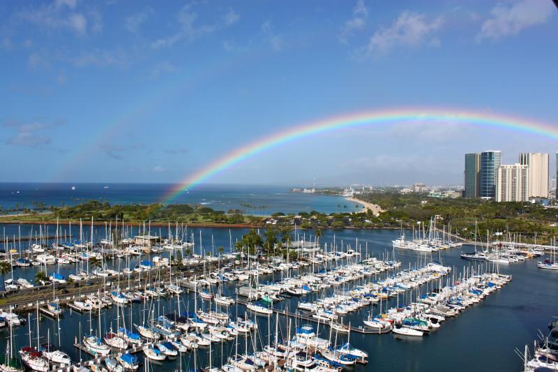 Rainbow from Penthouse Paradise's  Lanai