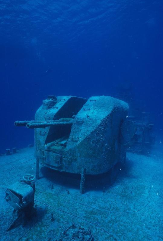 355 Russina torpedojager uit Bucaneer Reef
