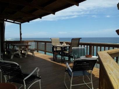 Private beach front deck - Villa #3