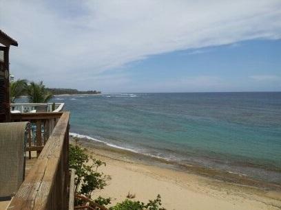 Shacks beach from both villa 3 & 4