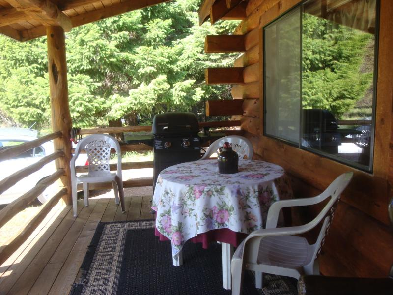dining and gas grill