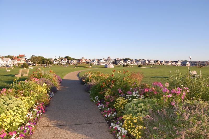 Garden path entering Ocean Park