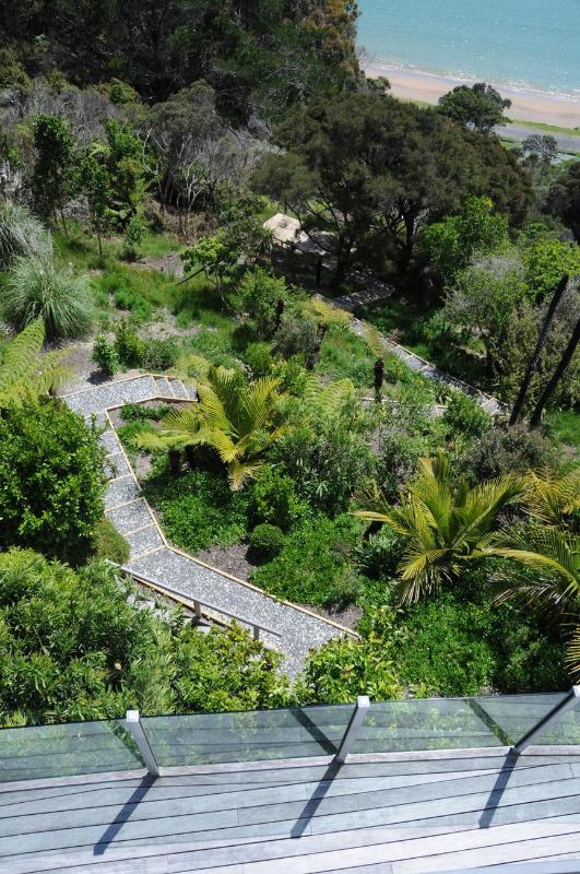 Waterall, Garden Path & Yoga Deck