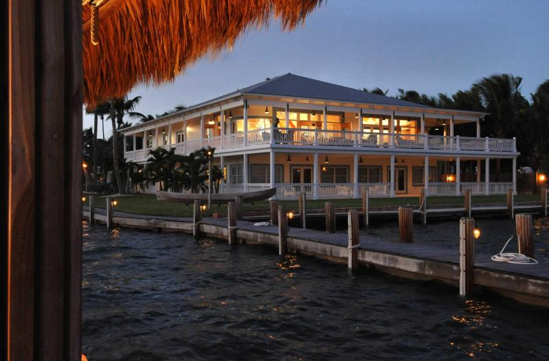 View of the Royal Palm Caribbean home from a shared 450 foot fishing pier
