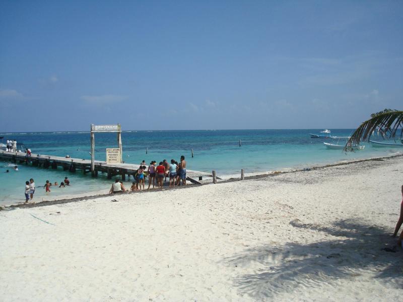 Hermosa playa en Puerto Morelos, disfrutar de snorkeling en el arrecife de coral increíble