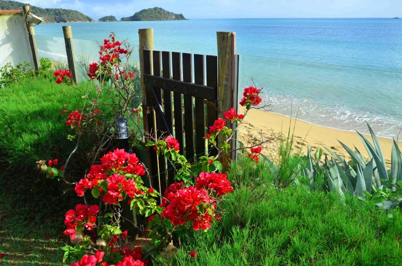 Location, location, location..Our garden gate opens straight to the beach. Jump into the ocean!