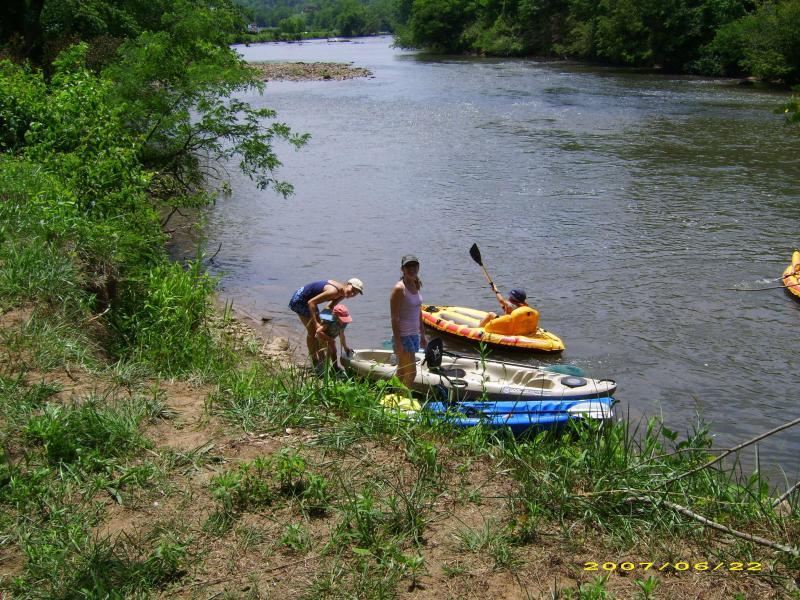 Fish, swim or kayak from backyard