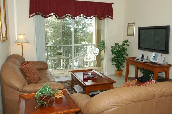 Living Room with Lanai, TV, DVD and CD