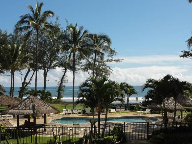 Islander na praia - área da piscina e Bar da piscina