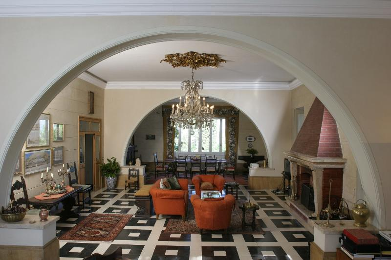 Livingroom and diningroom with 180 degree views stretching from Rome to the Apennine Mountains