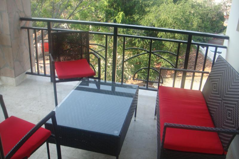balcony overlooking Rio Cuale