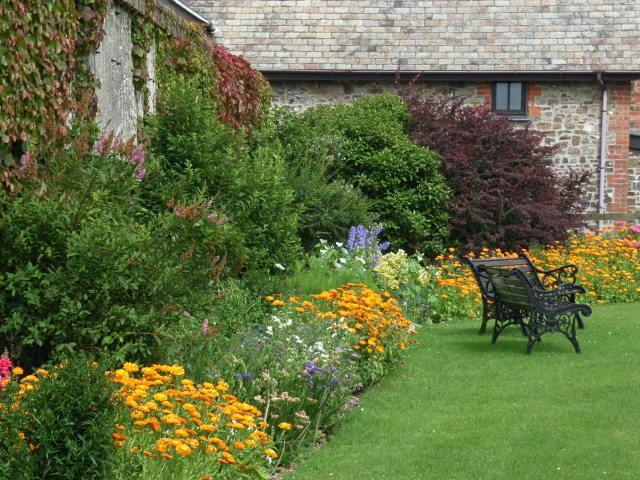 BENCHES AND A BORDER AT DOWNE