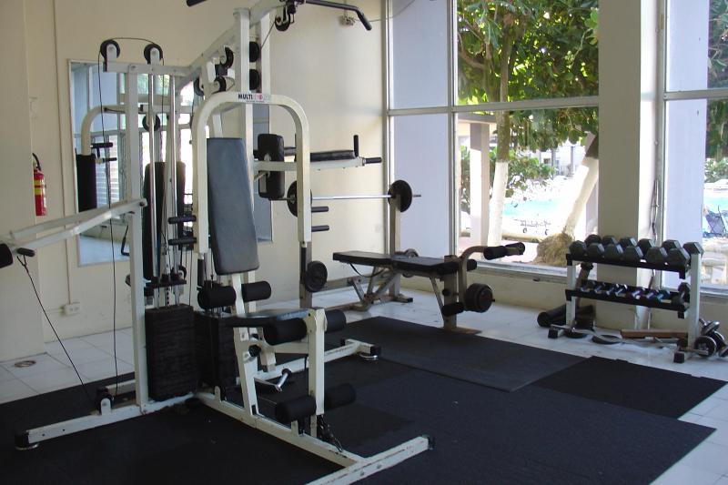 Weight room and treadmills