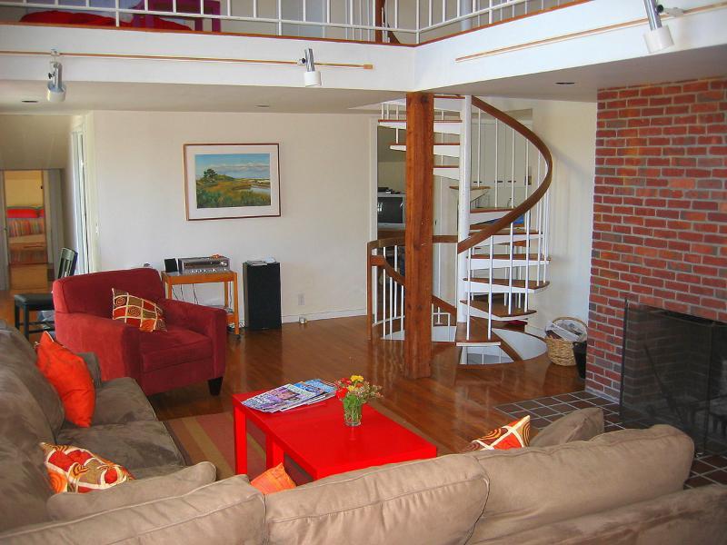 Sala de estar se abre a la cubierta