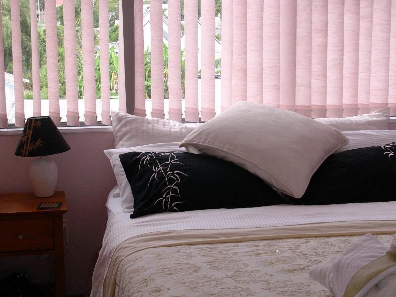 Queen bedroom in the upstairs suite