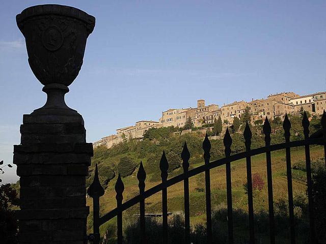 The village of Casole d\'elsa