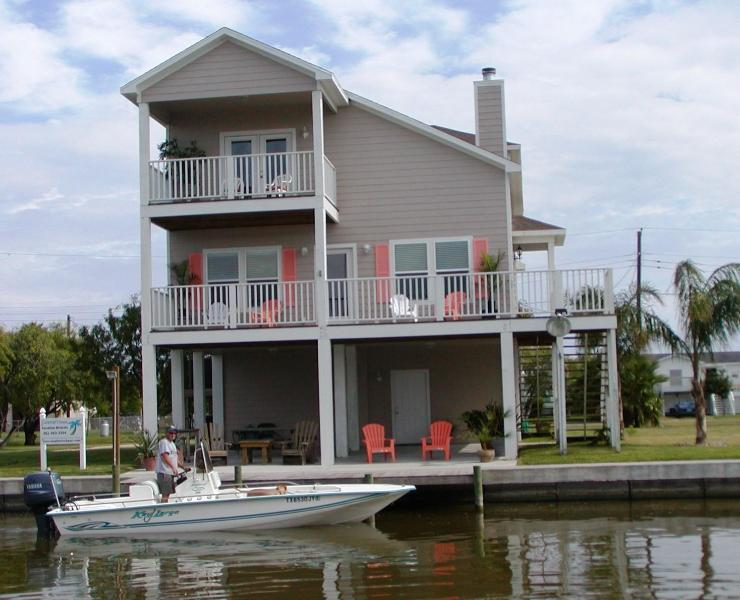 Beautiful bay views with premier fishing, lighted fishing dock and boat ramp.