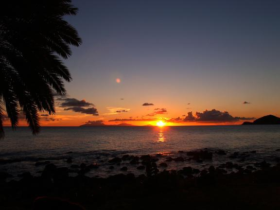 As the sun sets over Montserrat, a chance to catch the legendary 'green flash'