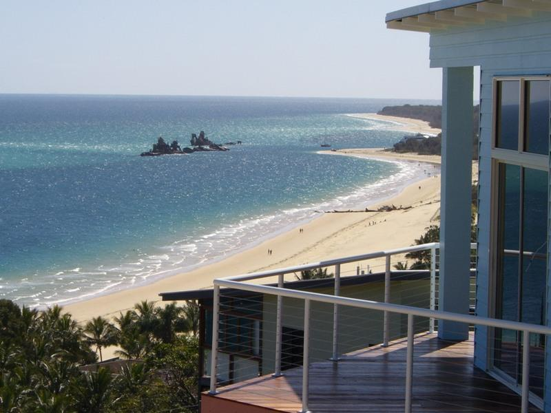 Views to Moreton Bay from the Blue Ocean View Beach House