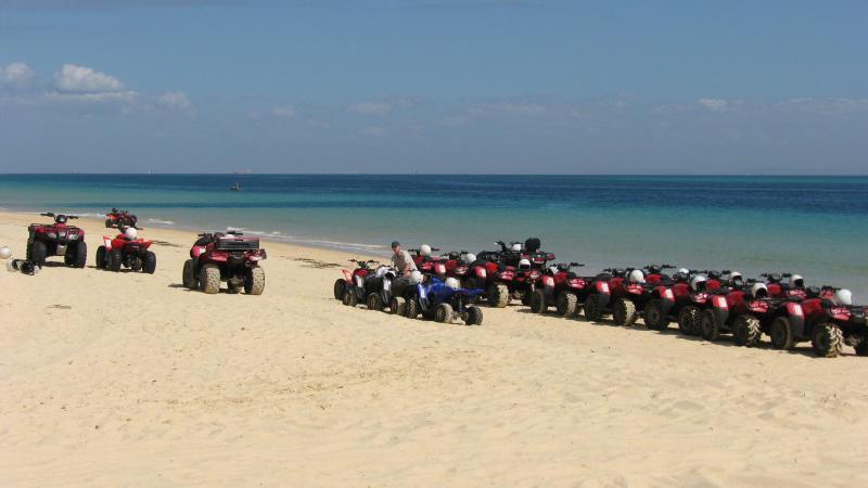 Quad bikes on the beach