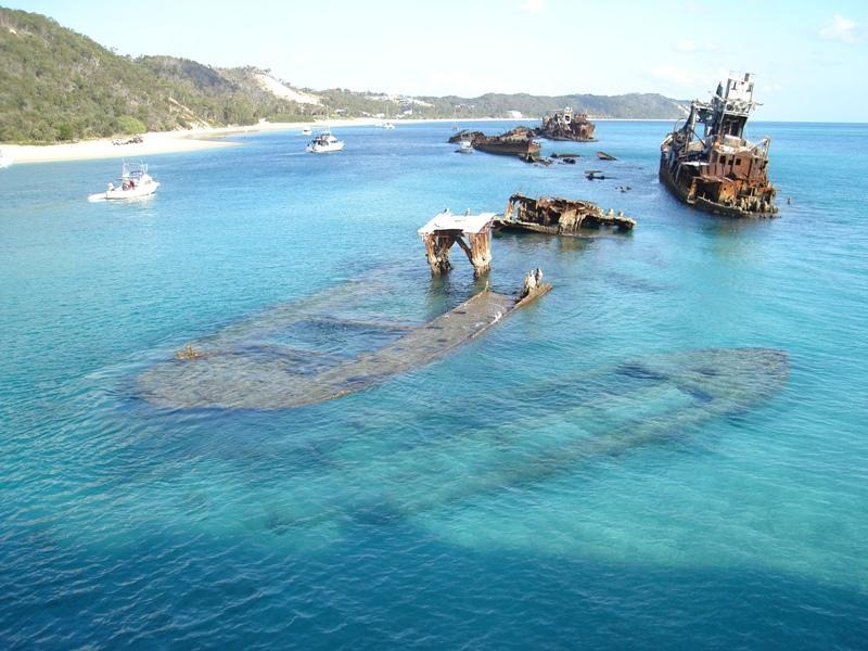 The Tangalooma Wrecks, a great place to snorkel