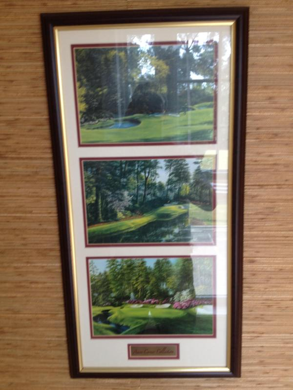 Golf Picture in Entryway