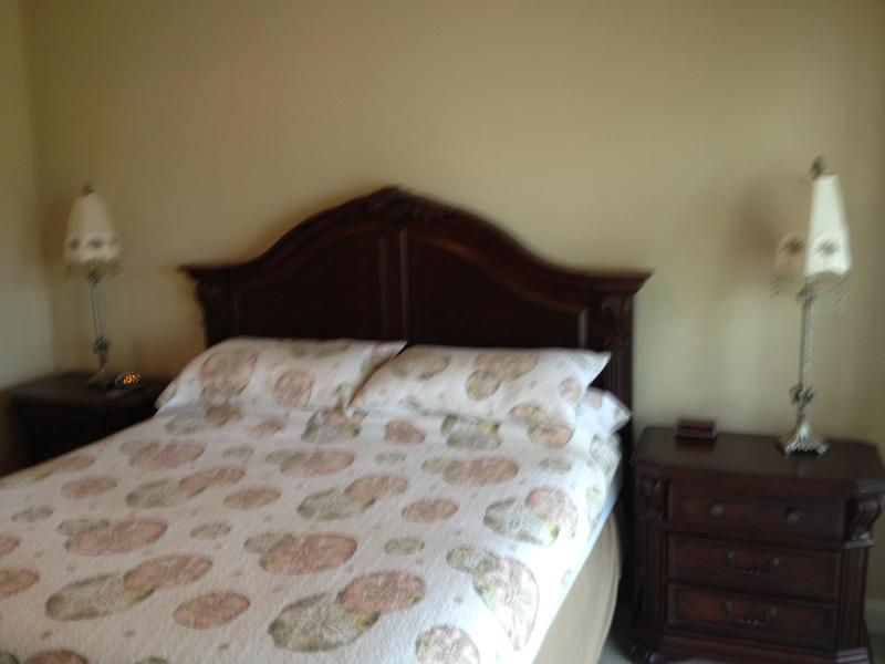 Master bedroom with King Bed with Summer Bedspread