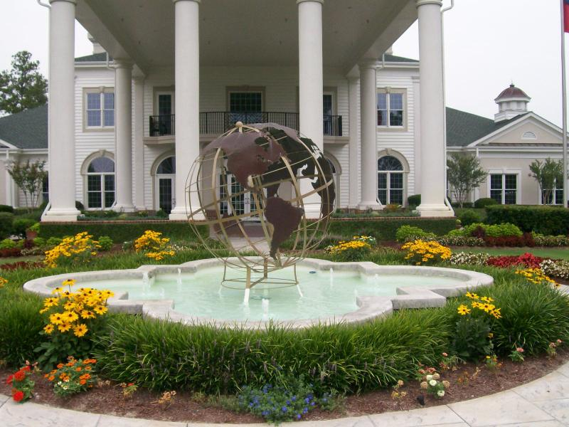 Fountain and Landscape in front of World Tour Club House